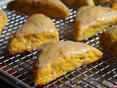 Pumpkin Scones – Pumpkin Scones with Pine Nuts and Maple Glaze