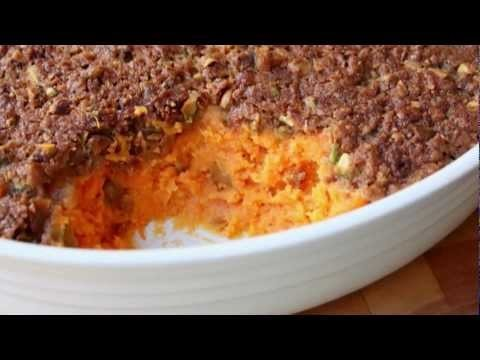Sweet Potato Casserole with Pistachio Crust – Thanksgiving Sweet Potato Casserole Side Dish Recipe