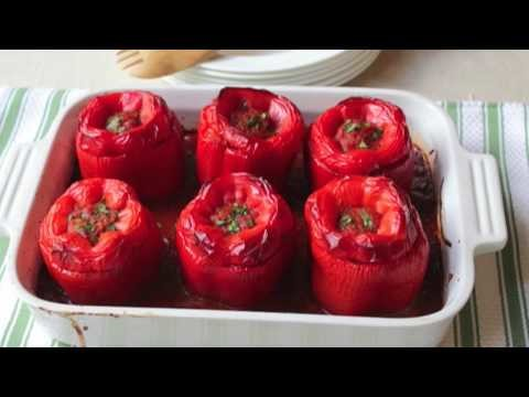 Food Wishes Recipes – How to Make Stuffed Peppers – Beef and Rice Stuffed Peppers Recipe
