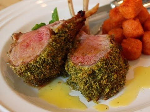 Mint-Crusted Rack of Lamb Recipe – Easter Special! Mint Crust Rack of Lamb with Honey Vinaigrette