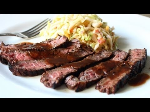 Grilled Coffee & Cola Skirt Steak Recipe – Grilled Beef Marinated in Coffee and Cola