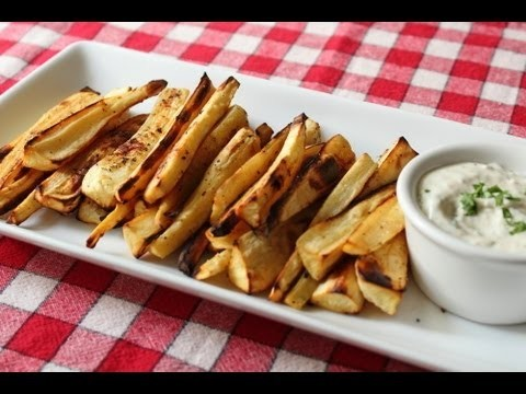 "Oven ""Grilled"" Parsnips Recipe — Roasted Parsnips Appetizer and Side Dish"