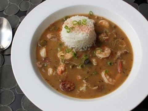 Duck Sausage Shrimp Gumbo Recipe – Cajun Gumbo with Andouille, Duck Leg, Shrimp and Langoustine