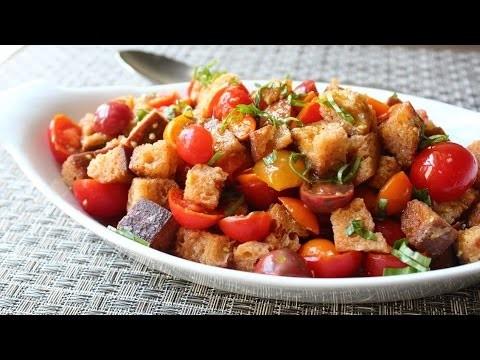 Crispy Panzanella Salad – Tuscan Bread & Tomato Salad Recipe