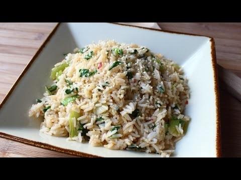 Bok Choy Rice – Easy Bok Choy Steamed Rice Recipe