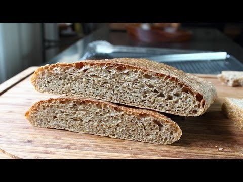 """Whole Wheat Ciabatta – No-Knead Whole Wheat """"Slipper"""" Bread Recipe"""
