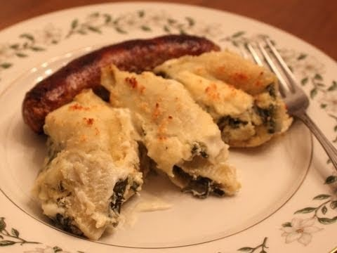 Artichoke Spinach Stuffed Shells Recipe – Pasta Shells Stuffed with Artichoke and Spinach