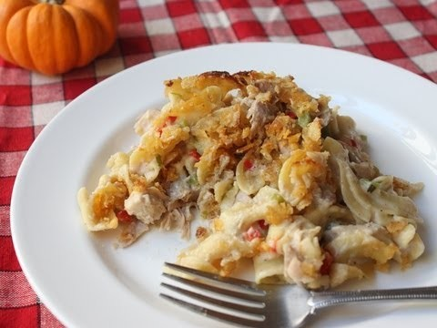 Turkey Noodle Casserole Recipe – Thanksgiving Leftover Turkey Special