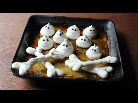 Meringue Bones & Ghosts – Crispy Meringue Halloween Candies