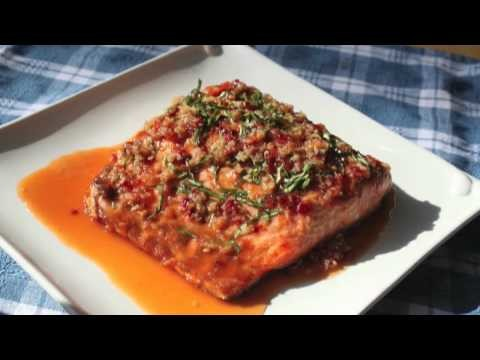 Food Wishes Recipes – Garlic Ginger Salmon Recipe – Grilled Salmon with Garlic, Ginger and Basil Sauce