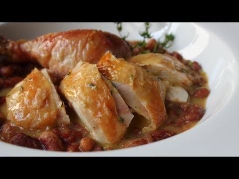 Salt-Roasted Chicken Recipe – Roast Chicken with Thyme Butter Sauce