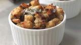 Food Wishes Recipes – Savory Gorgonzola Bread Pudding Recipe – Gorgonzola Bread Side Dish Recipe
