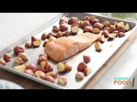 Arugula with Roasted Salmon and New Potatoes | Everyday Food with Sarah Carey