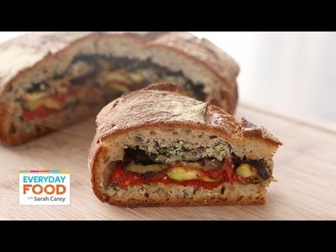 Grilled Ratatouille Muffuletta Sandwich – Everyday Food with Sarah Carey
