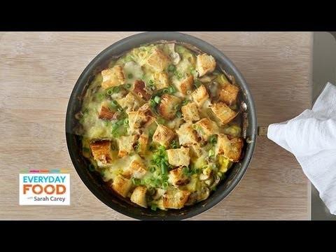 Mushroom, Cheddar, and Toast Frittata – Everyday Food with Sarah Carey