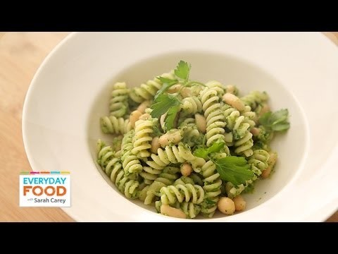 Pasta with White Beans and Broccoli Pesto – Everyday Food with Sarah Carey