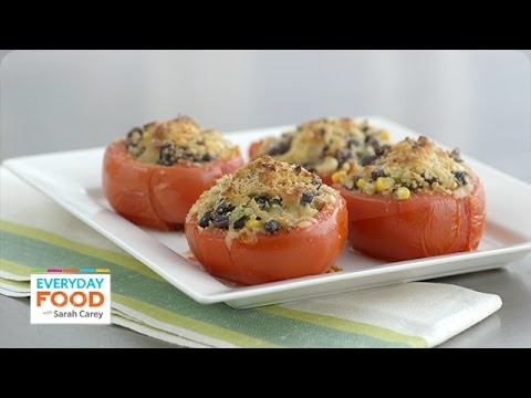 Vegetarian Corn and Black Bean Stuffed Tomatoes  – Everyday Food with Sarah Carey
