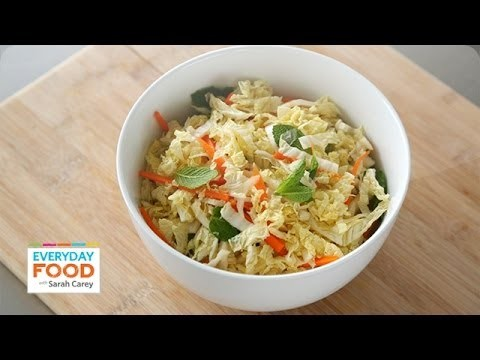 Asian-Inspired Napa Cabbage Slaw – Everyday Food with Sarah Carey
