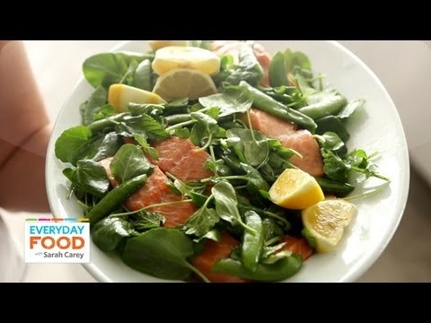 Poached Salmon and Snap Peas – Everyday Food with Sarah Carey