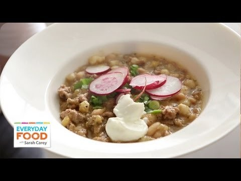 Turkey-and-White-Bean Chili | Everyday Food with Sarah Carey