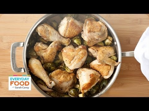 Braised Chicken and Brussels Sprouts – Everyday Food with Sarah Carey