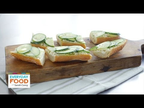 Cucumber-Feta Toast Recipe – Everyday Food with Sarah Carey