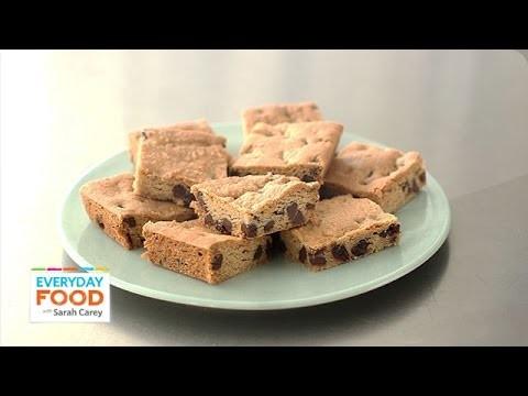 Chocolate-Chunk Cherry Blondie Recipe – Everyday Food with Sarah Carey