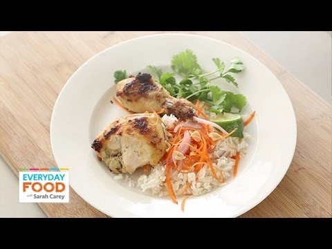 Coconut-Lime Chicken with Thai Garnishes  | Everyday Food with Sarah Carey