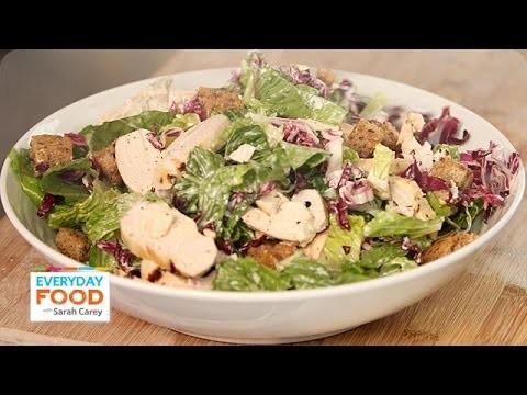 Buttermilk Chicken Caesar Salad Recipe – Everyday Food with Sarah Carey