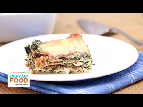 Spinach and Prosciutto Lasagna Recipe – Everyday Food with Sarah Carey