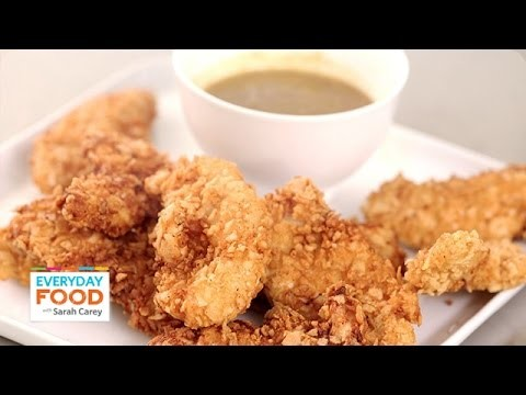 Corn Tortilla Crusted Chicken Tenders – Everyday Food with Sarah Carey