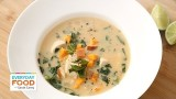 Chicken Soup with Sweet Potato and Collard Greens with Shira Bocar – Everyday Food with Sarah Carey