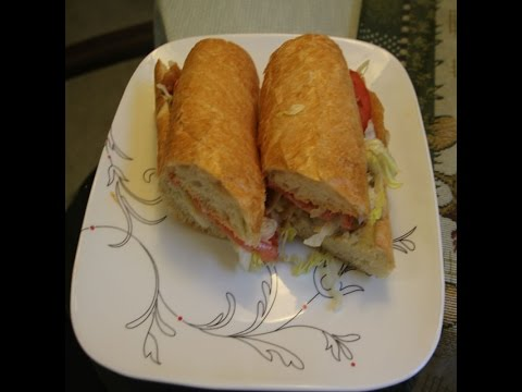 Fish Po Boy Sandwich