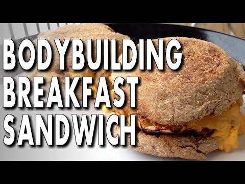 10 MINUTE BODYBUILDING BREAKFAST ► Egg & Chicken Sandwiches
