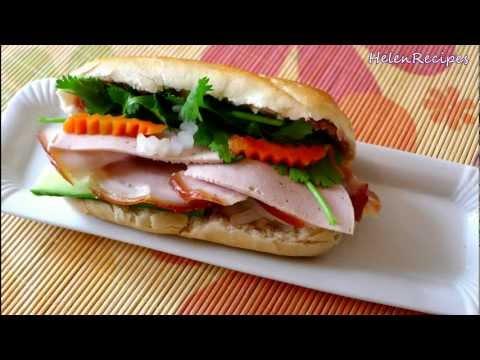 How to make Vietnamese Sandwich – Bánh mì thịt nguội