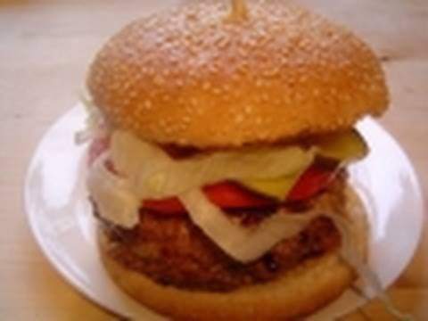 Beef Burger recipe how to make a whopper hamburger barbecue BBQ Food