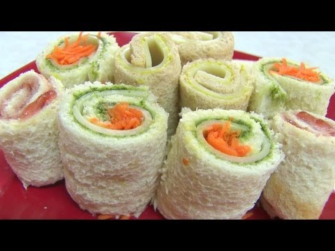 Sandwich Rollups Recipe – Bread Sushi Recipe – Kid's Video Recipes – Perfect Summer Recipe