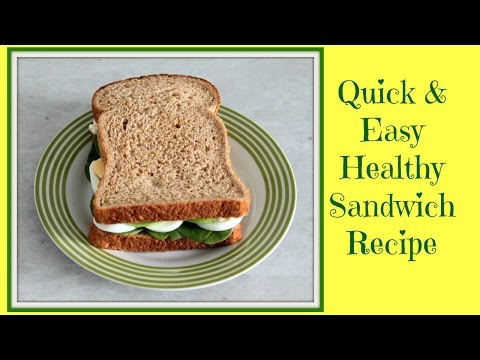 Quick and Easy Healthy Sandwich – Avocado & Egg Recipe (Breakfast Idea)