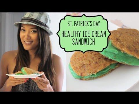Haute Holidays: St. Patrick's Day Healthy Ice Cream Sandwich