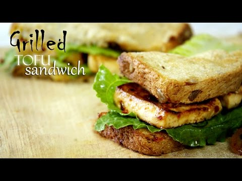 Grilled Tofu / Paneer Sandwich Recipe by Shilpi  | Healthy Indian  Appetizers Breakfast Recipes