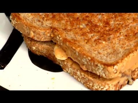 Peanut Butter Sandwich Topped With Almonds : Healthy Sandwiches & Easy Sides