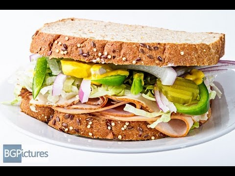 Healthy Living Obsession Turkey And Ham On Wheat With Veggies Sandwich