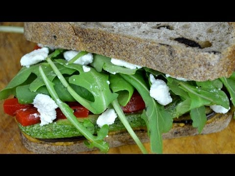 Delicious Grilled Vegetable Sandwich | Quick & Healthy Bento Lunch