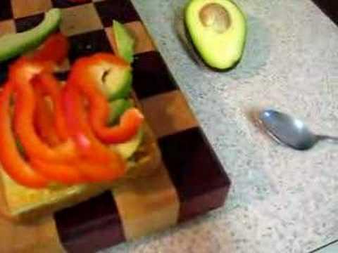 Delicious vegan sandwich
