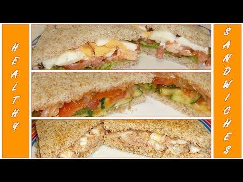 3 healthy SANDWICH IDEAS! Make EASY SCHOOL LUNCHES!