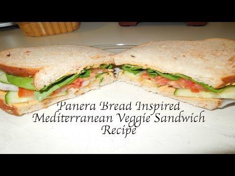 Panera Bread Inspired Mediterranean Veggie Sandwich Vegan