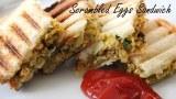 Scrambled Egg Sandwich Recipe | Healthy Indian Breakfast Lunch box | foodsandflavorsbyshilpi.com