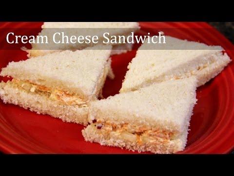 Cream Cheese Sandwich Recipe | Indian Snacks Teatime Breakfast Kids Recipe | foodsandflavorsbyshilpi