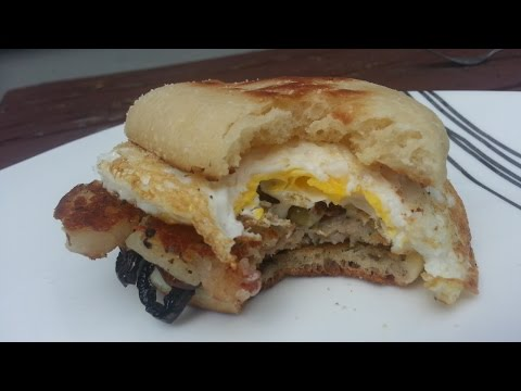 Cheese and Sausage Breakfast Sandwich – Easy to make sandwich on the Euro-Q