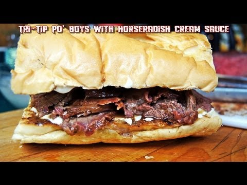 Tri Tip Po' Boy with Horseradish Cream Sauce & T-Shirt Giveaway